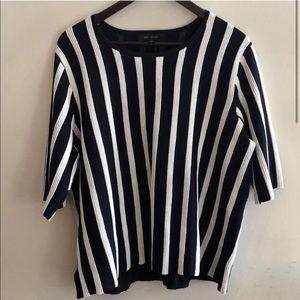 Ann Taylor NWT black and white shirt